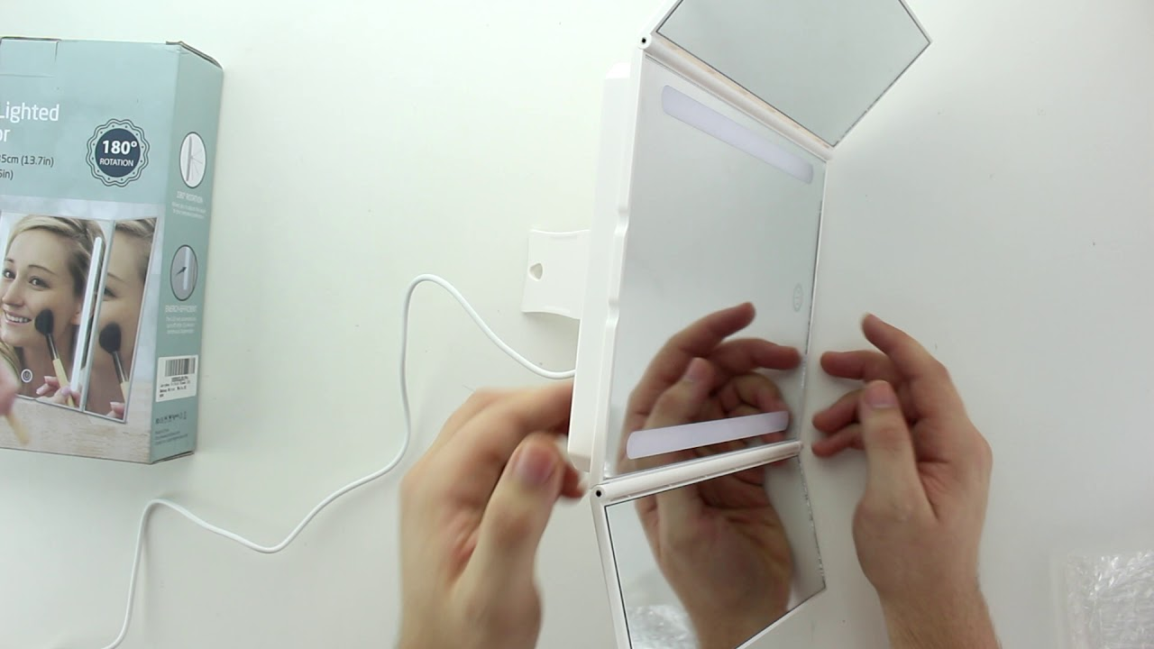 Unboxing Jerrybox Led Kosmetikspiegel Schminkspiegel Mit Beleuchtung