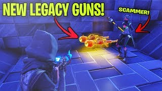 Dumb Scammer Has *NEW* Legacy Pumpkin Launcher! (Scammer Gets Scammed) Fortnite Save The World