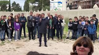 Posa della prima pietra della palestra della scuola Galilei a Bari