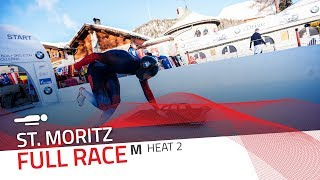 St. Moritz | BMW IBSF World Cup 2018/2019 - Men's Skeleton Heat 2 | IBSF Official