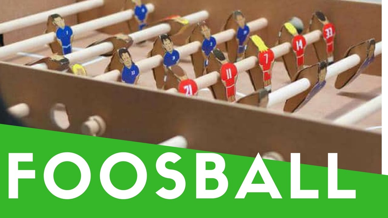 How To Make A Mini Foosball Table Football Soccer