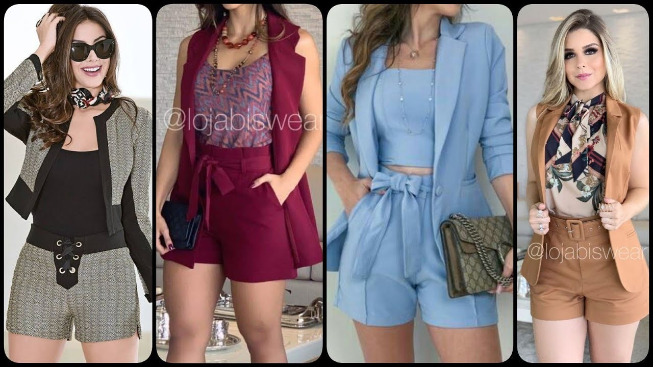 [VIDEO] - latest trendy outfits fashion for girls striped patron bow knot blouse with trendy shorts collection 3