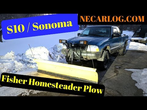 Fisher Homesteader Snow Plow On GMC Sonoma