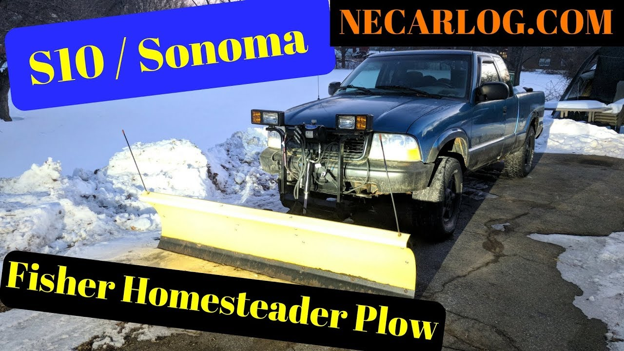 Fisher Homesteader Snow Plow on GMC Sonoma on