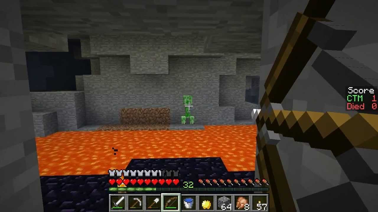 Minecraft Exploration Tactics S5e07 Two Angry Endermen And A Creeper To The Face