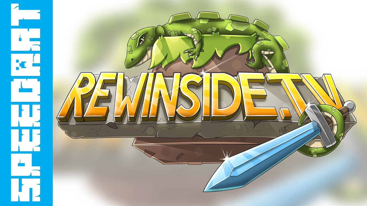 Minecraft SpeedDrawing - Rewinside Server Logo - YouTube