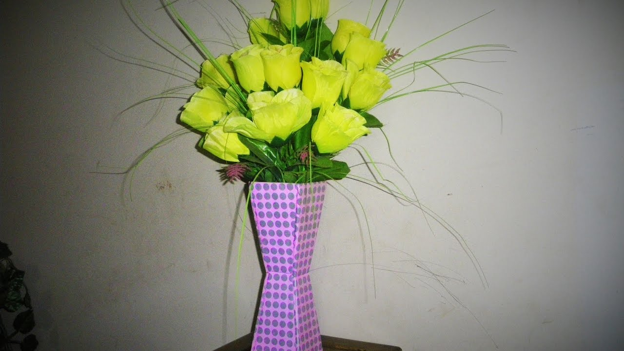 How to Make Cardboard Flower Vase | Cardboard Crafts & How to Make Cardboard Flower Vase | Cardboard Crafts - YouTube