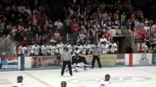 Hockey Fight Dan Sova Robert Shea