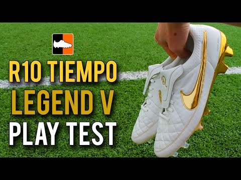 Nike '10R Ronaldinho' Tiempo Legend V Premium Play Test Touch of Gold Feat. IFootballHD