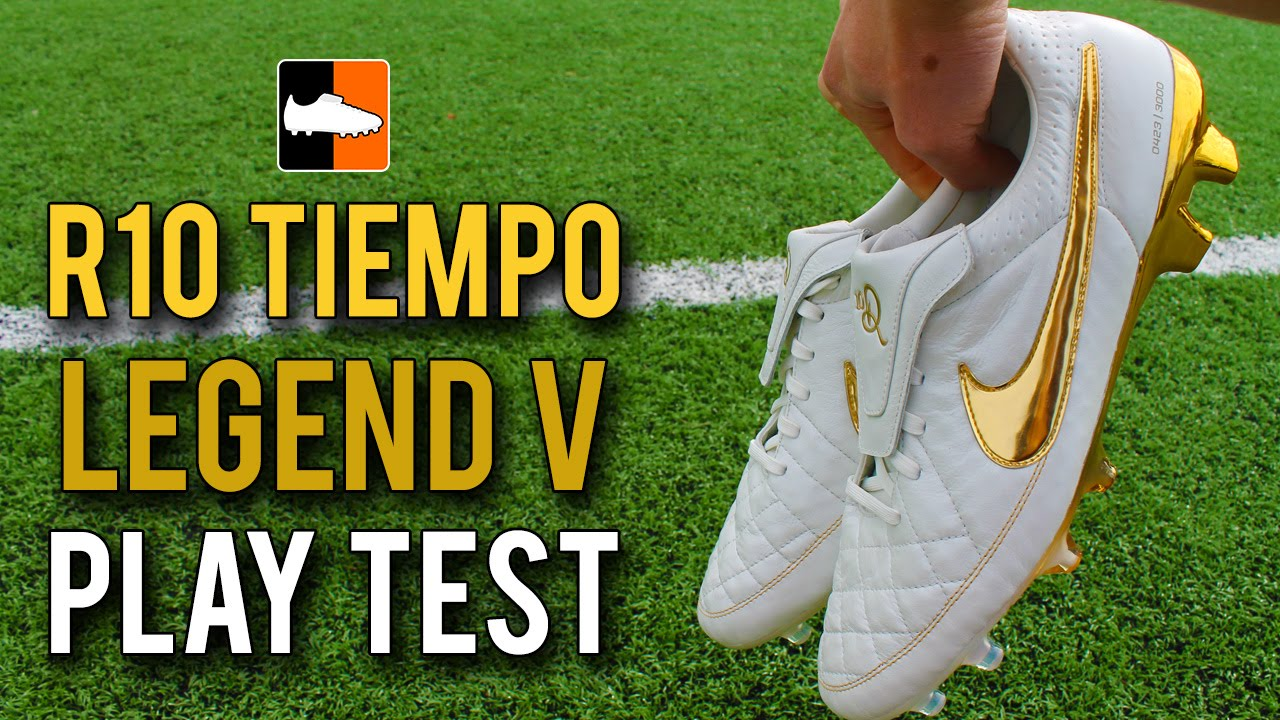 Nike '10R Ronaldinho' Tiempo Legend V Premium Play Test Touch of Gold Feat.  IFootballHD. Football Boots