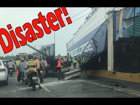 Disaster! Ferry KYDON collided with pier in Santo Domingo