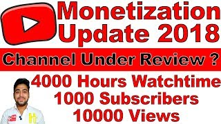 Video YouTube Monetization 2018 UPDATE || How to Check ? 4000 HOURS WATCH TIME 1000 SUBS 10k VIEWS | Hindi download MP3, 3GP, MP4, WEBM, AVI, FLV September 2018