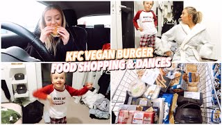 KFC VEGAN BURGER, FOOD SHOPPING & TIKTOK DANCES...
