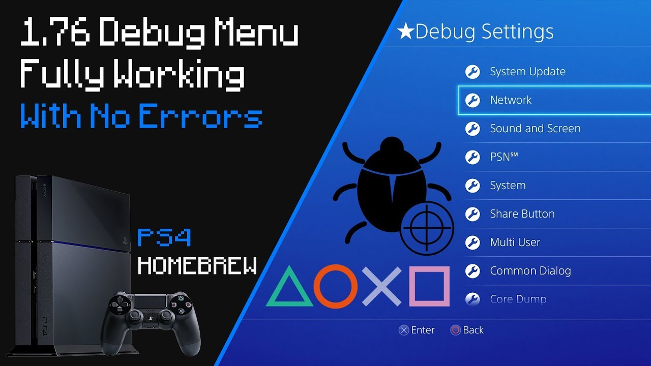 Fully Enable Debug Settings Without Errors On PS4 1 76