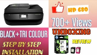 Unboxing and installing HP 680 combo ink cartridge/100 /hp 680 ink cartridges tri clour and black