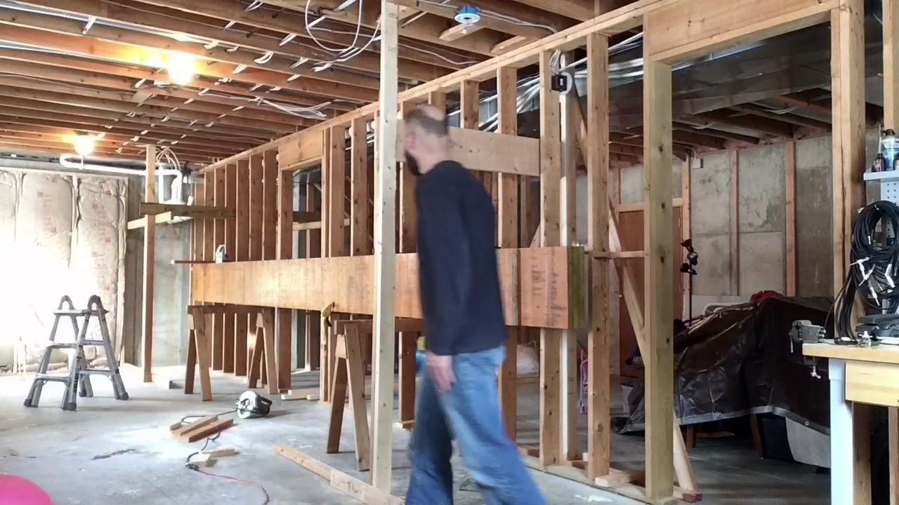LVL beam installation time-lapse