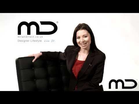 Barcelona Chair Black Premium Replica from Milan Direct UK