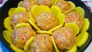 Просто объедение Удивила свою бабушку этим рецептом мясных шариков с картошкой