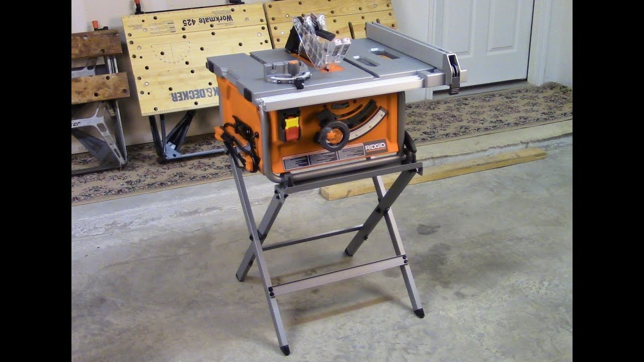 How to set up your ridgid r45171 table saw youtube how to set up your ridgid r45171 table saw keyboard keysfo Image collections