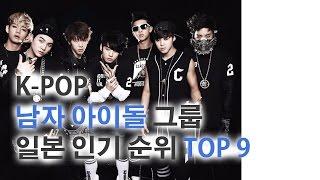 K-POP 남자 아이돌 그룹 일본 인기 순위 TOP 9