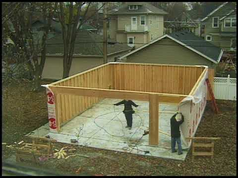 Garage Construction Time Lapse