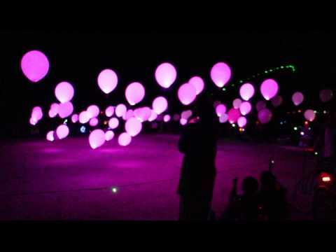 Balloon art at Burning man 2014