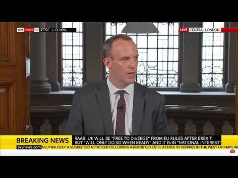 Dominic Raab launches the first no-deal Brexit papers [Full Speech & Q&A)