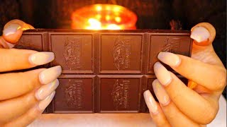 ASMR Textured Chocolate Fast Tapping + Scratching 🍫♡ [Delicious🤤]