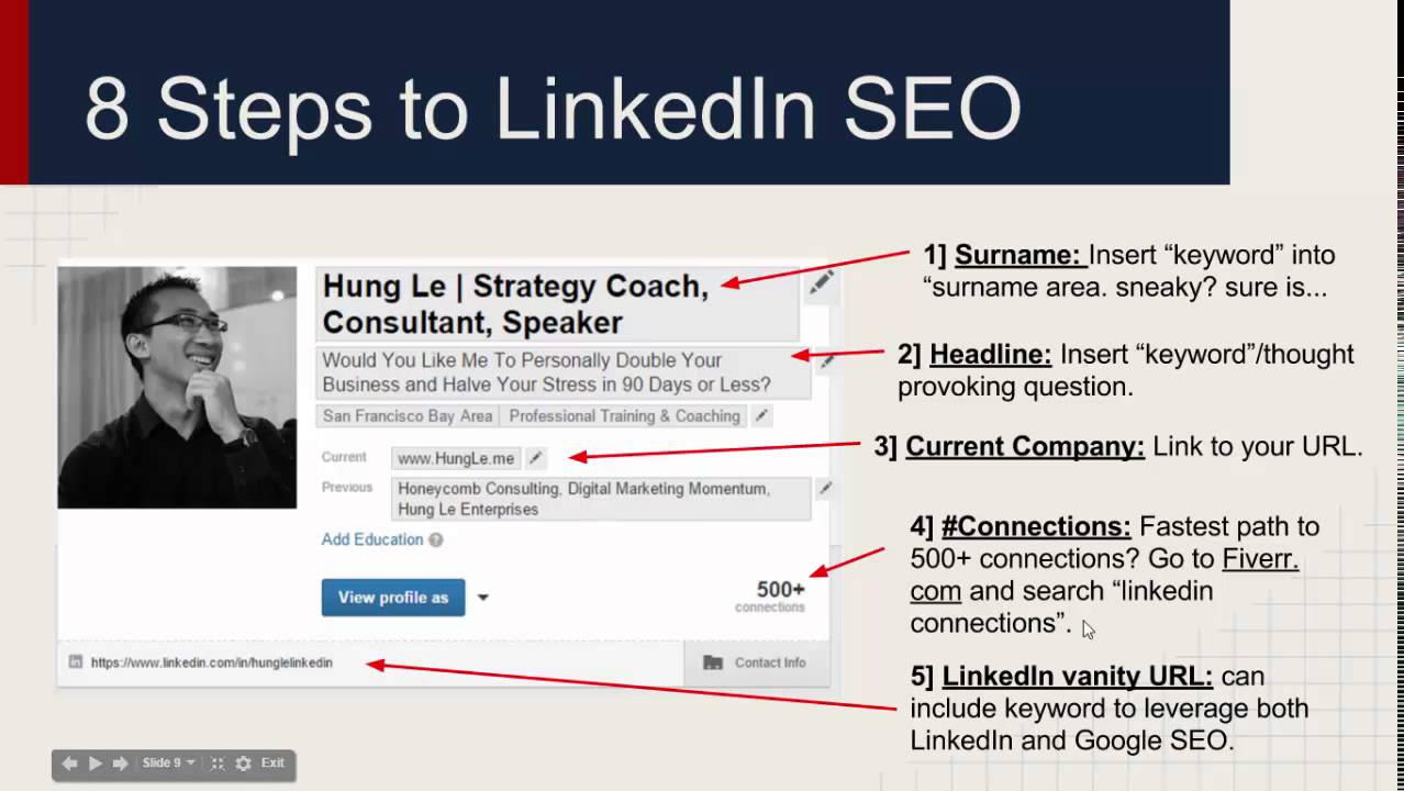 Why Business Cards Are for Losers and LinkedIn SEO - YouTube
