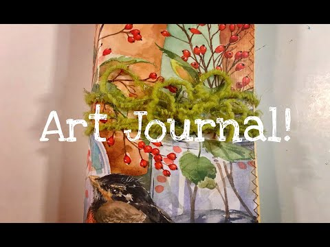 New Art Journal!  Nature Theme Cover / Filled with Watercolor Paper!
