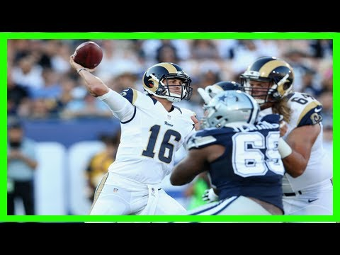 Rams News Now >> Rams Cowboys A Good Early Barometer For Team News Now Us Sport
