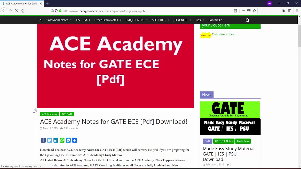 ACE Academy Notes for GATE ECE [Pdf] Download