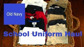 Back to School Uniforms- Old Navy Unboxing & Try-On