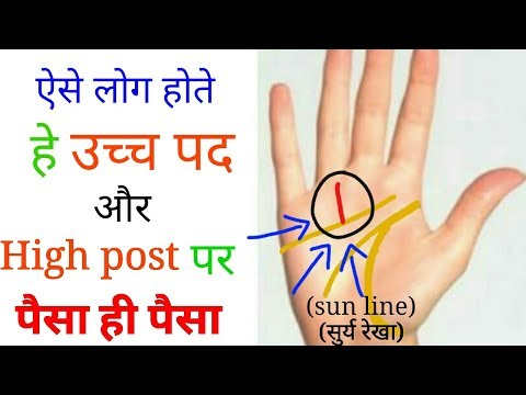 ऐसी रेखा वाले होते हैं किस्मत वाले मिलता है उच्च पद और मान सम्मान पैसा!Palmistry in hindi.