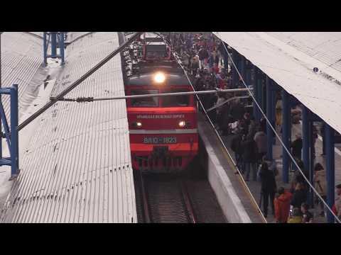 Поезд Санкт-Петербург - Севастополь, прибытие / первые кадры с места событий