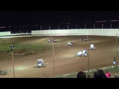 Challenge Cup Sprint Car Flip Crash 9-14-2013 @ Prescott Valley Raceway