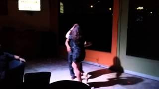 Mambo Marci performing the Salsa dance @ Kola Lounge