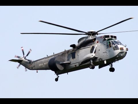 Royal Navy Westland Sea King ASaC7 - Landing - Jersey