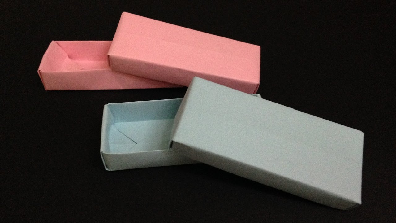 Origami Rectangle Box With Lid Instructions 折り紙 長方形のフタ付き箱 簡単な折り方 Youtube 折り紙 簡単 折り紙 折り紙の箱