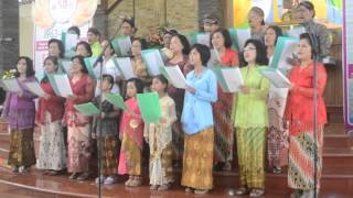 Ngluhurna Pangeran -Festival koor Gereja Katolik Kristus Raja Baciro Carolus Boromeus Plumbon