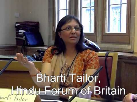 Bharti Tailor Secretary-General Hindu Forum of Britain addressing Syeda Fatima Interfaith Conf 2012