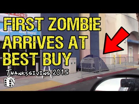 First Zombie Encampment Spotted at Best Buy - Wednesday 1:00pm - Oceanside, CA - Thanksgiving Eve