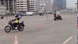 Motosiklet eğitimi 1.ders görüntüleri (2.bölüm)