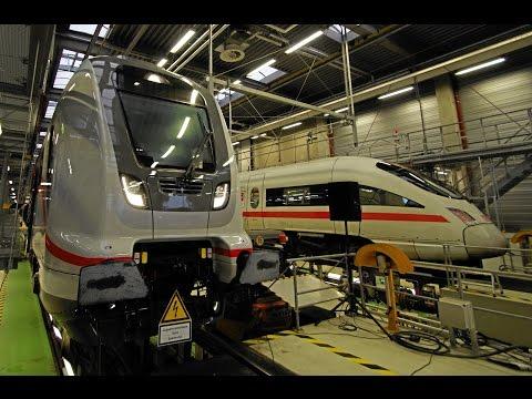 Mit dem Ferkeltaxi im ICE Bahnbetriebswerk Leipzig