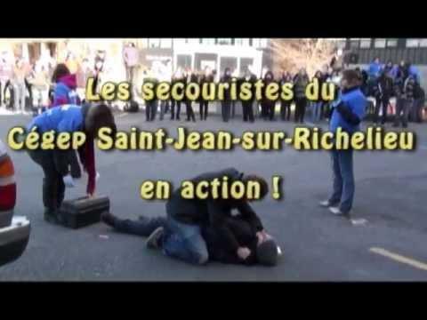 Les secouristes du Cégep Saint-Jean-sur-Richelieu en action!