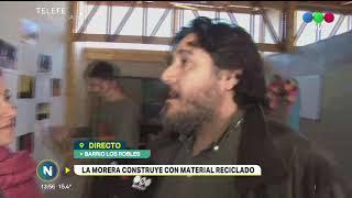 Fundación La Morera levanta sus paredes  con material reciclado