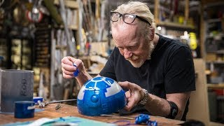 Adam Savage Paints an Astromech for Magic Wheelchair!