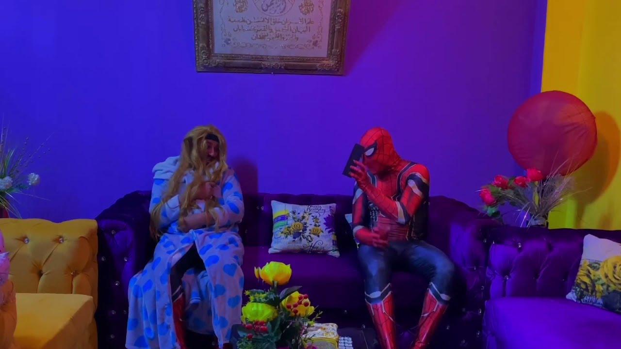 مرات سبايدر مان عازوه هدية عيد الحب شوفو حصل اي ههه 😅 || سبايدر مان spider man