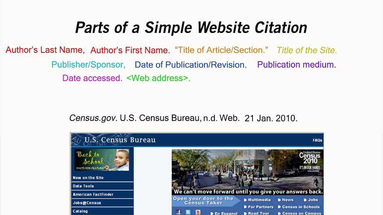 how to cite a website how to cite a website