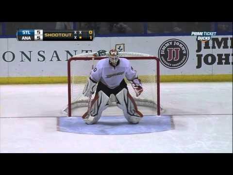 Shootout Feb 9 2013 Anaheim Ducks vs St. Louis Blues NHL Hockey